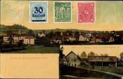 Postcard Dittersdorf Amtsberg, Stadtpanorama, Glockenturm, Telefonamt