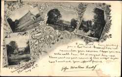 Postcard Hutloh Hechthausen im Kreis Cuxhaven, Bauernhaus
