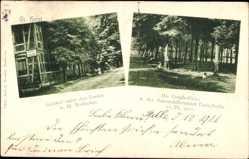 Postcard Groß Horst Isernhagen in Niedersachsen, Gasthof unter den Linden, Nottbohm
