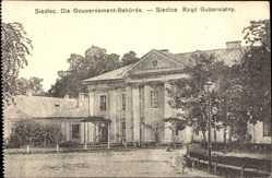 Postcard Siedlec Mazowieckie Polen, Gouverment Behörde, Rzad Gubernialny