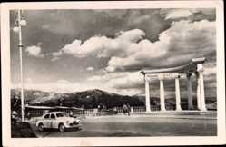 Postcard Aluschta Krim Ukraine, Rotonda, Denkmal, Auto
