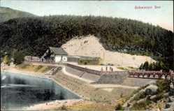 Postcard Urbeis Orbey Elsaß Haut Rhin, Schwarzer See, Damm