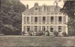 Postcard Nesle Somme, Château, Ansicht vom Schloss mit Garten