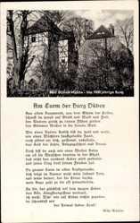 Gedicht Ak Bad Düben an der Mulde Sachsen, Am Turm der Burg Düben, W. Winkler