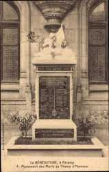Postcard Fécamp Seine Maritime, Bénédictine, Monument des Morts