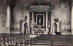 Postcard Brookeborougj Nord Irland, Interior, Roman Catholic Church