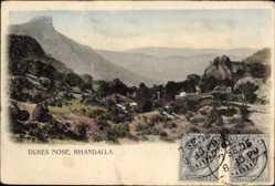 Ansichtskarte / Postkarte Khandalla Neuseeland, Dukes Nose, Felsformation, Panoramablick ins Tal