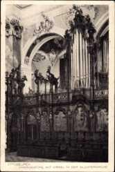Postcard Ottobeuren im schwäbischen Kreis Unterallgäu, Chorgestühl,Orgel,Klosterkirche