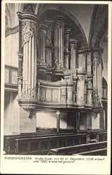 Postcard Marienmünster Kreis Höxter, Große Orgel, Gebetsbänke, Kirche, Innenansicht