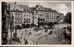 Postcard Olomouc Olmütz Stadt, Straßenpartie, Brunnen, Adolf Hitler Ring