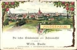 Passepartout Künstler Litho Hildesheim Niedersachsen,Blick v. Bergholz,Kirchturm