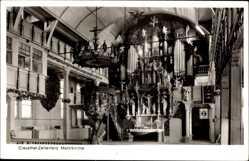 Postcard Clausthal Zellerfeld im Oberharz, Marktkirche, Innenansicht, Orgel