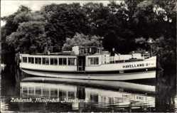 Postcard Zehdenick im Kreis Oberhavel, Blick auf das Motorschiff Havelland