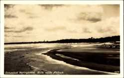 Postcard Ostseebad Heringsdorf auf Usedom, Blick nach Ahlbeck, Meer,Strand