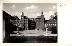 Postcard Schwetzingen im Rhein Neckar Kreis, Blick auf das Schloss, Garten, Statuen