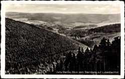 Postcard Zella Mehlis im Thüringer Wald, Blick vom Sternberg auf Lubenbachtal