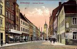Postcard Lutherstadt Wittenberg in Sachsen Anhalt, Coswiger Straße, Geschäfte