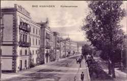 Postcard Bad Kissingen Unterfranken Bayern, Blick in die Kurhausstraße