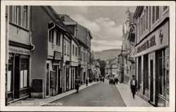 Postcard Sangerhausen im Kreis Mansfeld Südharz, Göpenstraße, Geschäfte
