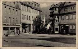 Postcard Adenau im Kreis Ahrweiler Rheinland Pfalz, Markt mit Blick in die Kollengasse