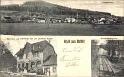 Postcard Hoffelt Eifel, Gasthaus zum Hoffelder Hof, Bes. Chr. Bürger,Säulenbasaltgrube