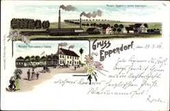 Litho Eppendorf, Wetzel's Restaurant, Ziegelei, Zementfabrik