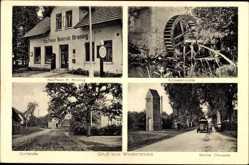 Postcard Westertimke Niedersachsen, Schnakenmühle, Kaufhaus Kroning, Bremer Chaussee