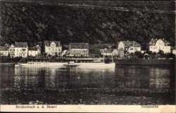 Postcard Brodenbach an der Terrassenmosel, Teilansicht vom Wasser, Flussdampfer
