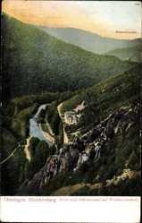 Postcard Bad Blankenburg im Kreis Saalfeld Rudolstadt, Schwarzatal mit Weidmannsheil