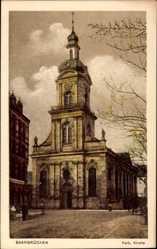 Postcard Saarbrücken im Saarland, Blick auf die Katholische Kirche, Portal