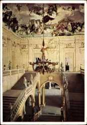Postcard Würzburg am Main Unterfranken, Residenz, Treppenhaus, Innenansicht