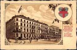 Wappen Litho Koblenz in Rheinland Pfalz, Hotel zum Riesenhof, Gasthof zum Anker