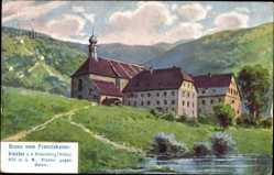 Künstler Ak Bischofsheim an der Rhön in Unterfranken, Franziskanerkloster