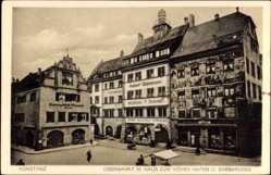 Postcard Konstanz am Bodensee, Obermarkt mit Haus zum hohen Hafen und Barbarossa