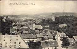 Postcard Osterode in Niedersachsen, Blick auf den Ort, Burgruine, Kirchturm