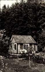 Postcard Hilchenbach, Blick auf ein Ferienhäuschen, Fensterläden, An der Sang 14