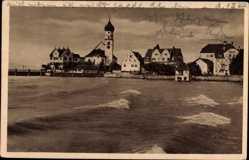 Postcard Wasserburg am Bodensee Schwaben, Stadtansicht, Glockenturm