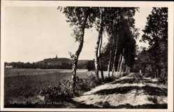 Postcard Elten Emmerich an Niederrhein, Blick zur Stadt, Spazierweg, Wald