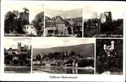 Postcard Neckarsteinach, Luftkurort, Stadtansichten, Mittelburg, Schwalbennest