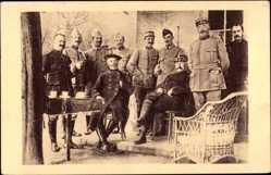 Postcard Barbot et Pétain à la veille de l'Offensive d'Artois