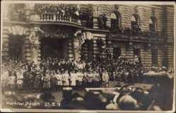Foto Ak Maréchal Philippe Pétain, Militärparade, 25 11 1918