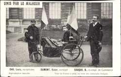Ak Unis par le Malheur, Louis Dag, Victor Dumont, Souque, Tour de France à pied