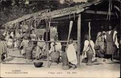 Ak Village nègre, Jardin d'Acclimatation, Afrikanisches Dorf