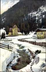 Ak Landschaft in Bayern, Nenke und Ostermaier 1813, Winter