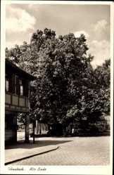 Postcard Schwabach in Mittelfranken Bayern, Alte Linde, Fachwerk
