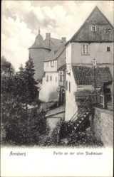 Postcard Arnsberg im Hochsauerlandkreis, Partie an der alten Stadtmauer