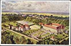 Künstler Ak Sasbach Ortenaukreis, Kloster der Franziskanerinnen, Erlenbad