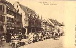 Postcard Freiburg an der Elbe im Kreis Stade, Marktplatz mit Kaufhaus