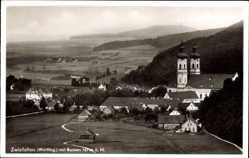 Postcard Zwiefalten Württemberg, Totalansicht, Kirche, Bussen