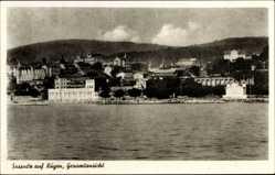 Postcard Sassnitz auf der Insel Rügen, Gesamtansicht, Blick vom Wasser aus